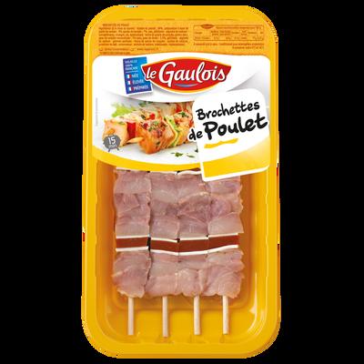 Brochettes poulet, LE GAULOIS, France, 4 pièces, barquette 380g