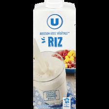 Boisson végétale saveur riz calcium U, bouteille de 1L