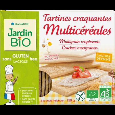 Tartines craquantes multicéréal sans gluten JARDIN BIO, 150g