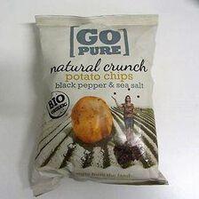 Chips de pommes de terre au poivre noir&au sel de mer GO PURE,125g