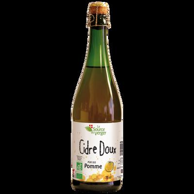 Cidre doux bio LA SOURCE DU VERGER 2,5°, bouteille de 75CL