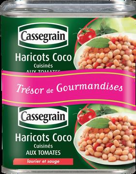 Cassegrain Haricots Coco Cuisinés Tomates Laurier Et Sauge Cassegrain, 2x1/2 870g
