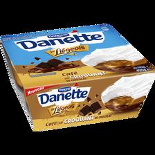 Le Liégeois au café sur lit croquant de chocolat DANETTE 4x100g