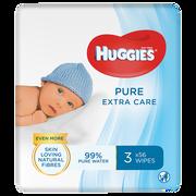 Huggies Lingette Pour Bébé Pure Huggies, Recharge X56 Lot De 3