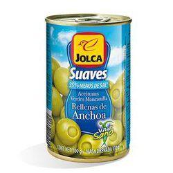 Olives aux anchois allegés en sel - JOLCA, conserve de 130G