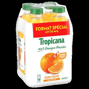 Tropicana Pure Jus D'orange Sans Pulpe Pure Prémium Tropicana, 4x1l