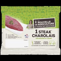 Steak de boeuf Charolais ***, Nouvelle Agriculture, France, 1 pièce, étui fraicheur, 140g