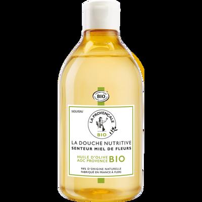 Douche nutritive miel de fleurs LA PROVENCALE, bio  flacon de 500ml