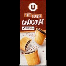 P'tits fourrés au chocolat U, paquet de 225g