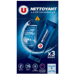 Nettoyant lave-vaisselle doses U, x3 120g