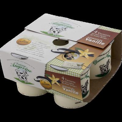 Yaourt arômatisé fruit des bois DOUCEUR ANGEVINE, 4% de MG, pack de 125g