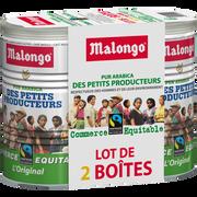 Malongo Café Moulu Petits Producteurs Commerce Équitable Malongo, 2 Boites Enfer De 250g