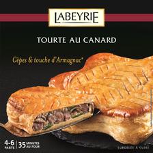 Labeyrie Tourte Canard, Cèpes Et Armagnac  500g