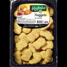 Nuggets volaille pané, REGHALAL, France, barquette sous atmosphère,800g