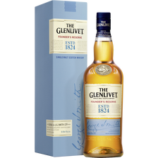 The Glenlivet Scotch Whisky Single Malt  Founder's Réserve,40°, Bouteille De 70cl + Étui