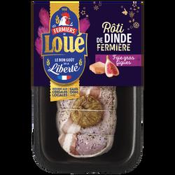 Rôti de dinde figue/foie gras, LOUE, France, 1 pièce, 660g