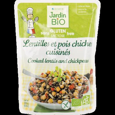 Lentille pois chiche sans gluten JARDIN BIO, doy pack de 250g