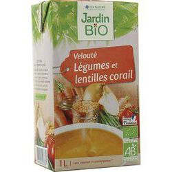Velouté de légumes et lentilles corail, JARDIN BIO, 1 LITRE