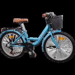 Vélo de ville bleu, 24 pouces