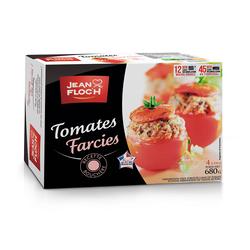 Tomates farcies Viandde de Production Française, JEAN FLOCH, étui congelé, 4x170g