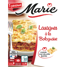 Lasagnes à la bolognaise, MARIE, 300g