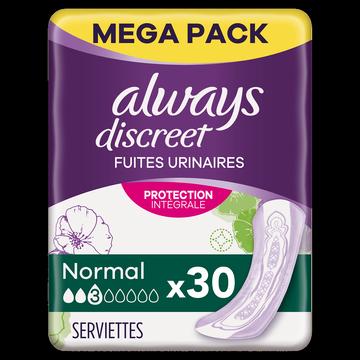 Always Serviette Discret Normal Always, X30