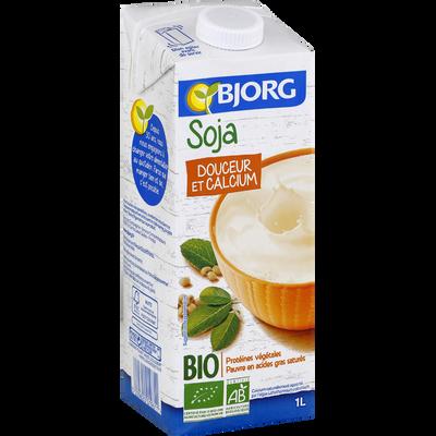 Boisson soja calcium bio BJORG, brique de 1 litre