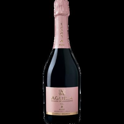 Crémant rosé de Limoux AOC brut AGUILA, bouteille de 75cl
