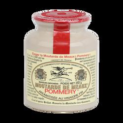 Moutarde de Meaux POMMERY, pot grès et bouchon plastique de 250g