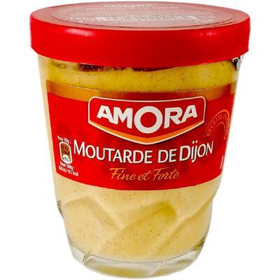 Mourtarde de Dijon fine et forte AMORA, bocal de 150g