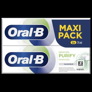 Oral B Dentifrice Gencives Purify Blancheur Oral-b 2x75ml