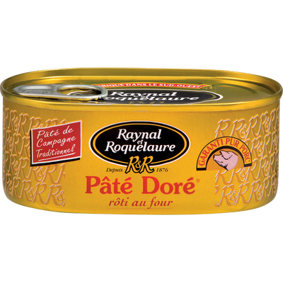 Pâté doré RAYNAL & ROQUELAURE, boîte 1/4, 200g