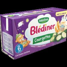 BLEDINER lait aux légumes courgettes, dès 6 mois, 2x250ml