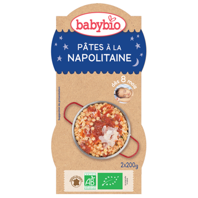 Bol Bonne nuit Pâtes napolitaine BABYBIO dès 8mois 2x200g
