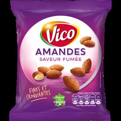 Amandes saveur fumée VICO, paquet de 100g