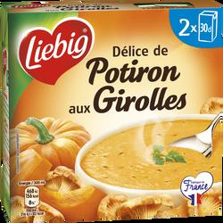Soupe délice de potiron aux girolles LIEBIG, 2 briques de 30cl