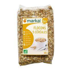 Flocons 5 céréales BIO, MARKAL, le paquet de 500g