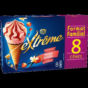 Nestlé Extrême Fraise Vanille, X8 Soit 568g