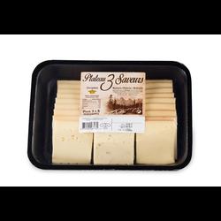 Plateau 3 saveurs nature poivre et brezain au lait pasteurisé 28% de MG, 550g