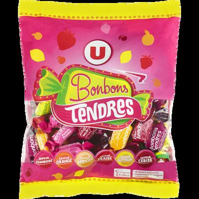 Bonbons tendres fruits U, sachet de 340g