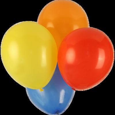 Ballons de baudruche, 100 unités, coloris assortis