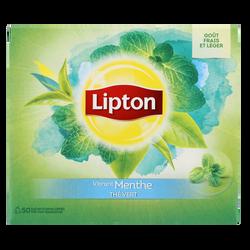 Thé vert à la menthe LIPTON, x50