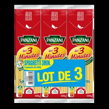 Panzani Pâtes Spaghetti Cuisson Rapide Panzani, 3x500g