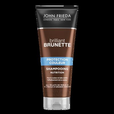 Shampoing brillant brunette nutrition protection couleur JOHN FRIEDA,tube de 250ml