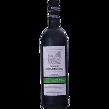 Vin de pays du Gard rouge bio Domaine du grand Milord, bouteille de 75cl