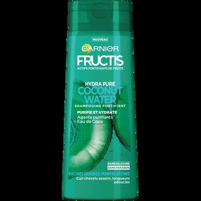 Shampooing hydra pure coconut water, FRUCTIS, flacon de 250ml