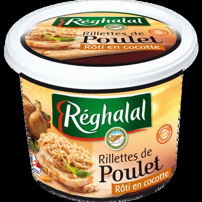 Rillettes de poulet rôti en cocotte halal REGHALAL, 220g