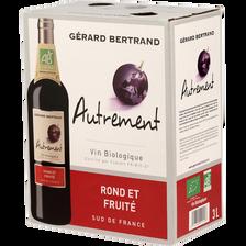 Vin rouges IGP Pays d'Oc AUTREMENT BIO, fontaine à vin de 3l