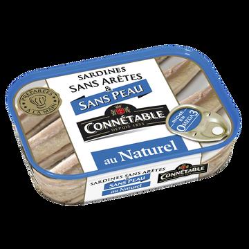 Connetable Sardines S/peau & S/arêtes Au Naturel Connetable 1/6 98g