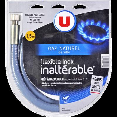 Tuyau flexible pour gaz naturel U, en inox